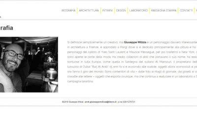 Architect Giuseppe Milizia web site