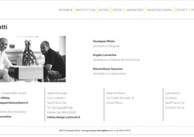 Architect Giuseppe Milizia web site