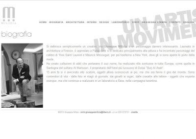 Architect Giuseppe Milizia's old website