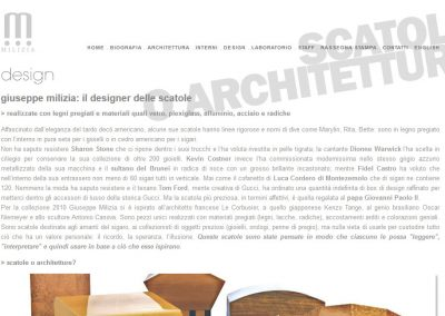 Architect Giuseppe Milizia's old website