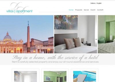Villas Apartment website