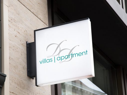 Logo and flyer Villas Apartment